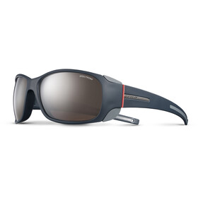 Julbo Monterosa Spectron 4 Sunglasses dark blue/gray/coral-brown flash silver